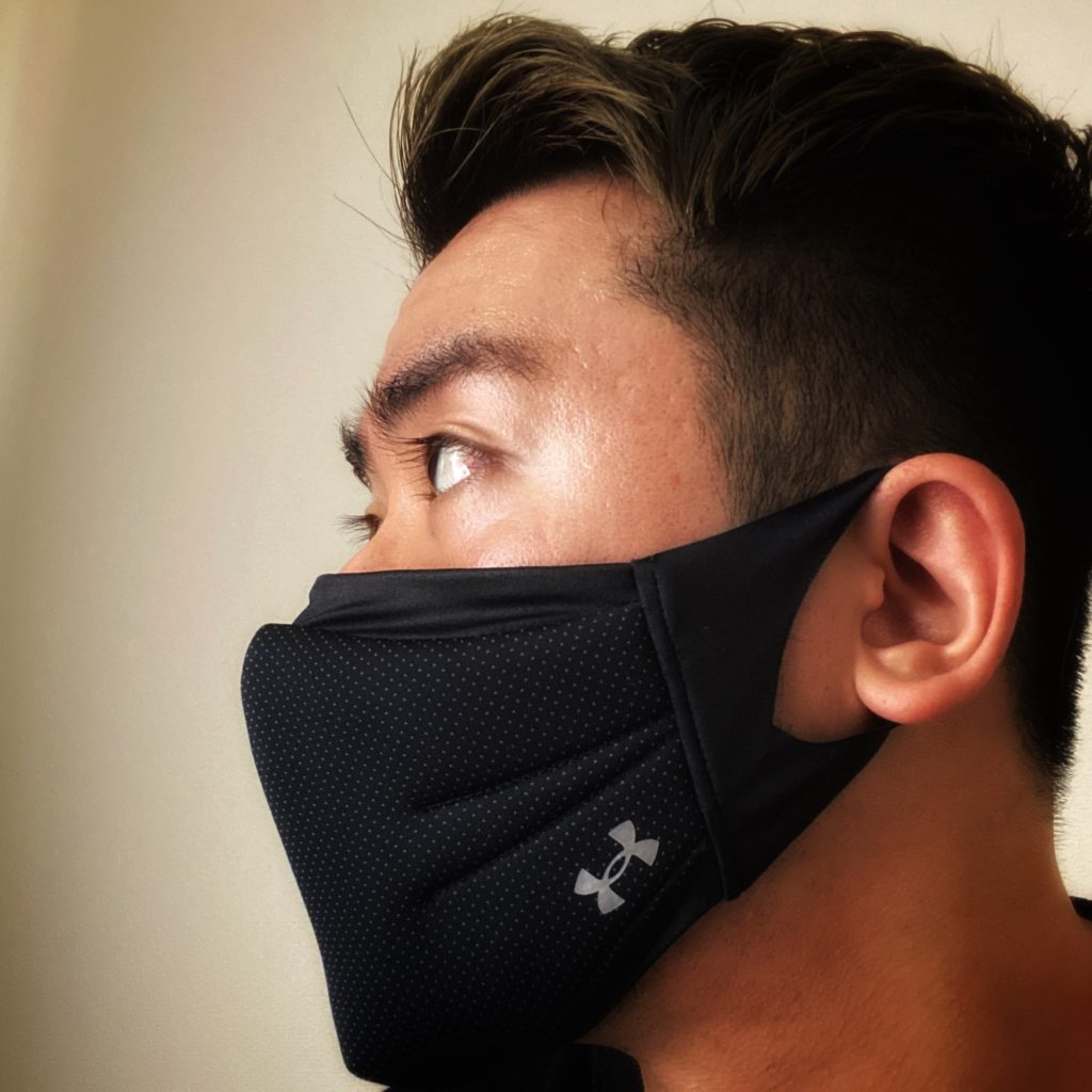 アンダーアーマーマスク着用例